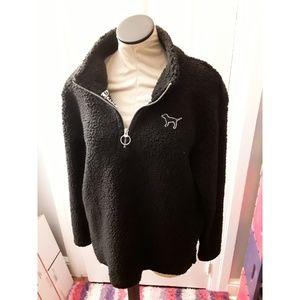 Black Sherpa Victoria's Secret Pink Pullover
